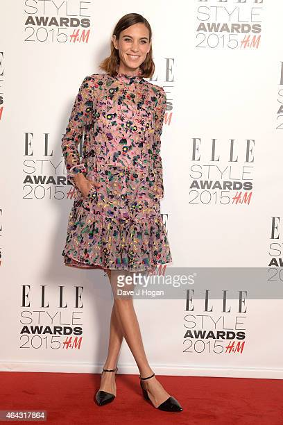 Alexa Chung attends the Elle Style Awards 2015 at Sky Garden @ The Walkie Talkie Tower on February 24 2015 in London England