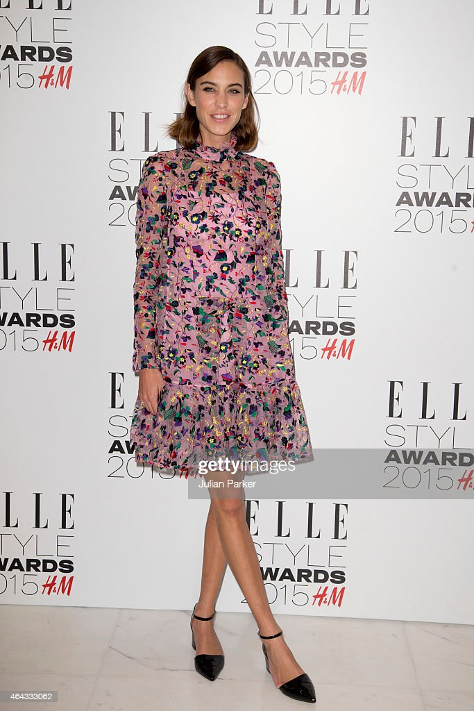 Alexa Chung attends the Elle Style Awards 2015 at Sky Garden @ The Walkie Talkie Tower on February 24, 2015 in London, England.