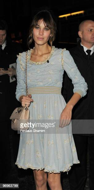 Alexa Chung attends the ELLE Style Awards at Grand Connaught Rooms on February 22 2010 in London England