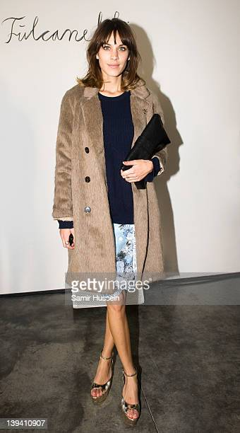 Alexa Chung attends the Erdem show during London Fashion Week Autumn/Winter 2012 at the White Cube on February 20 2012 in London England