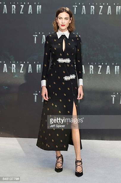 Alexa Chung attends the European premiere of 'The Legend Of Tarzan' at Odeon Leicester Square on July 5 2016 in London England