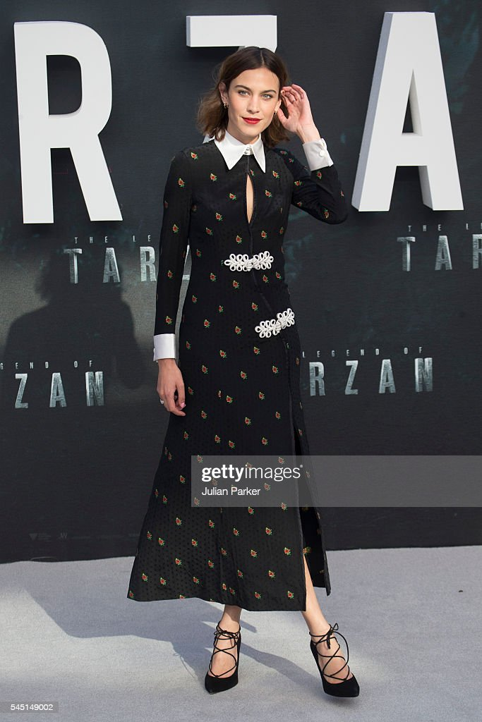 Alexa Chung attends the European premiere of 'The Legend Of Tarzan' at Odeon Leicester Square on July 5, 2016 in London, England.