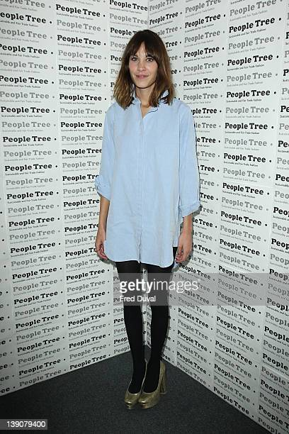 Alexa Chung attends the Fair Trade and environmental fashion and lifestyle label's party as founder hosts to preview the the autumn/winter 2012...