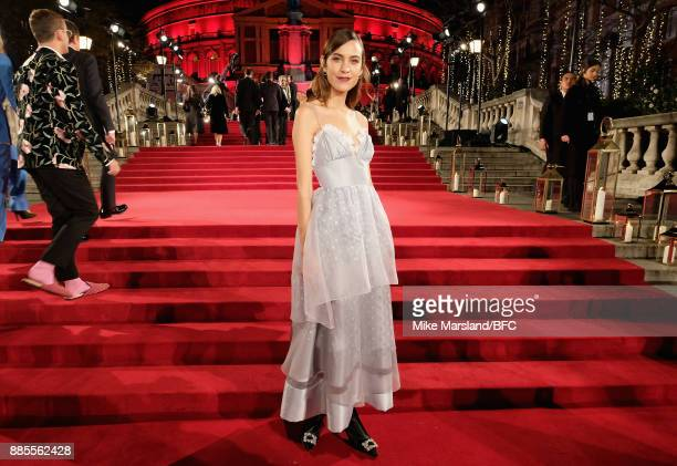 Alexa Chung attends The Fashion Awards 2017 in partnership with Swarovski at Royal Albert Hall on December 4 2017 in London England