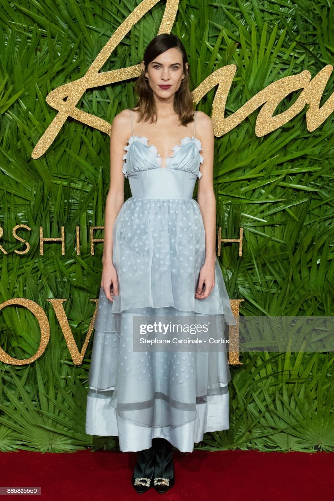 Alexa Chung attends the Fashion Awards 2017 In Partnership With Swarovski at Royal Albert Hall on December 4, 2017 in London, England.