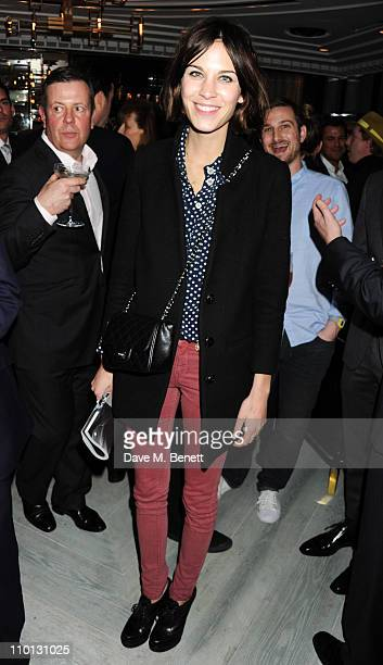 Alexa Chung attends the GQ Style s/s 2011 Issue launch party at Bassoon Bar in the Corinthia Hotel on March 15 2011 in London England