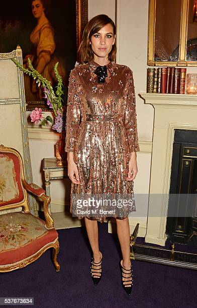 Alexa Chung attends the Gucci party at 106 Piccadilly in celebration of the Gucci Cruise 2017 fashion show on June 2 2016 in London England