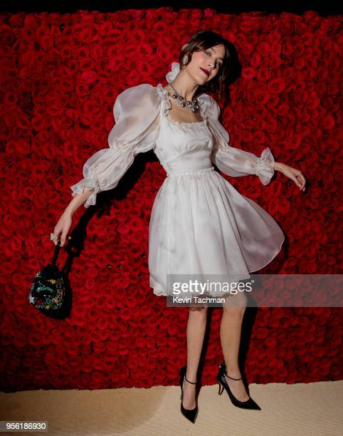 Alexa Chung attends the Heavenly Bodies Fashion The Catholic Imagination Costume Institute Gala at The Metropolitan Museum of Art on May 7 2018 in...