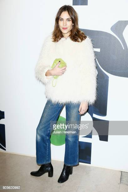 Alexa Chung attends the HM show as part of the Paris Fashion Week Womenswear Fall/Winter 2018/2019 on February 28 2018 in Paris France