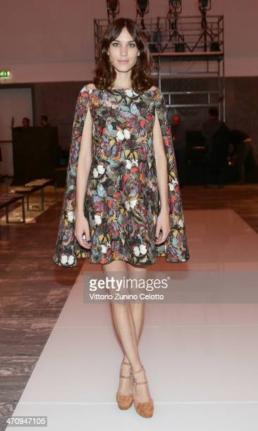 Alexa Chung attends the International Woolmark Prize as part of Milan Fashion Week Womenswear Autumn/Winter 2014 on February 21 2014 in Milan Italy