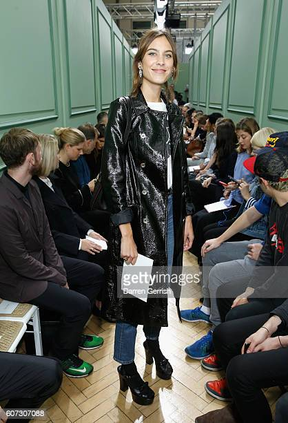 Alexa Chung attends the JWAnderson show during London Fashion Week Spring/Summer collections 2016/2017 on September 17 2016 in London United Kingdom