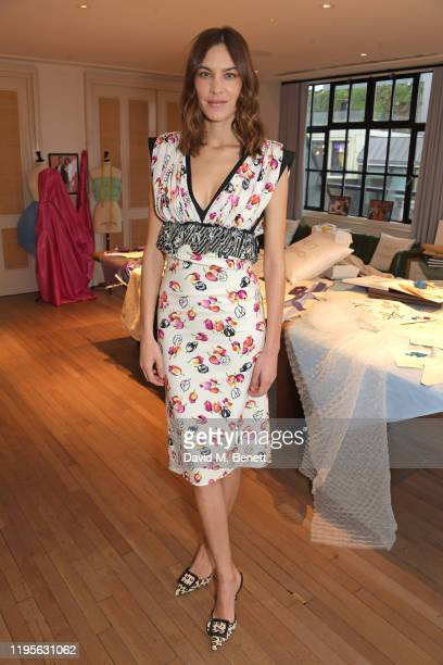 Alexa Chung attends the launch of Alexa Chung and Tan Frances' new Netflix x NETAPORTER series Next In Fashion at Mortimer House on January 24 2020...