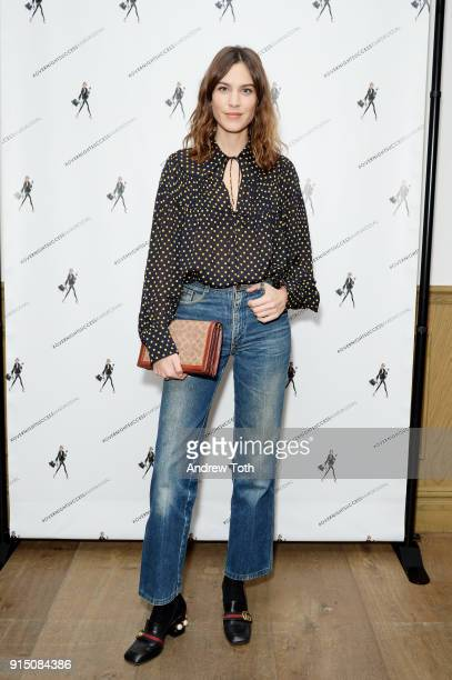 Alexa Chung attends the launch of How To Be An Overnight Success at Crosby Street Hotel on February 6 2018 in New York City