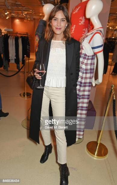 Alexa Chung attends the launch of the House of Holland x Woody Woodpecker London Fashion Week pop up at Fenwick Of Bond Street on September 13 2017...