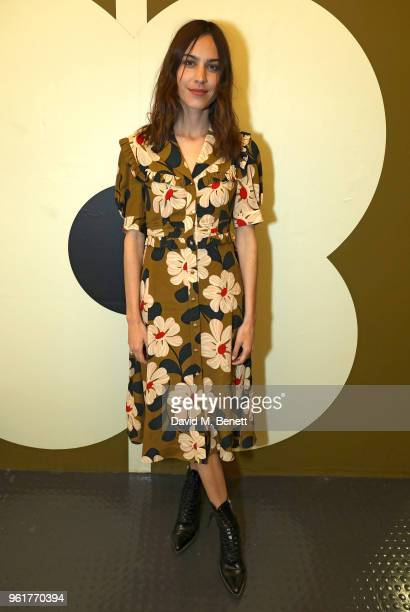 Alexa Chung attends the launch of the Orla Kiely retrospective that celebrates her remarkable 20year career at The Fashion and Textile Museum on May...