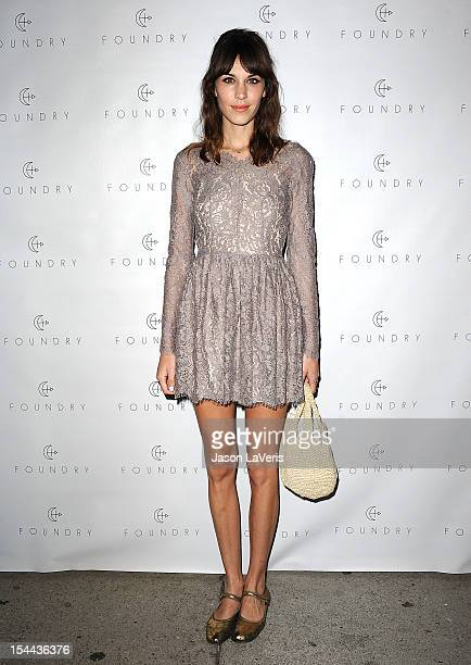 Alexa Chung attends the launch party for Foundry at Foundry Store on October 19, 2012 in Los Angeles, California.