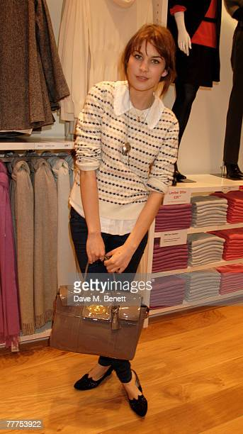 Alexa Chung attends the launch party of Uniqlo's new flagship store on Oxford Street at Uniqlo November 6 2007 in London England