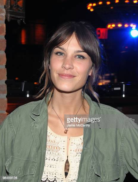Alexa Chung attends the LOFT launch of Style Studio at The Bowery Hotel on April 14 2010 in New York City