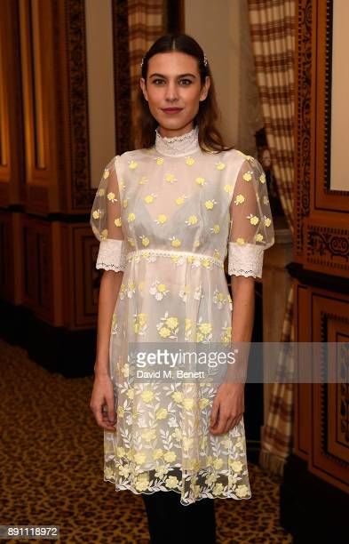 Alexa Chung attends the L'Orla Resort SS18 launch dinner at The Lanesborough Hotel in association with Selfridges on December 12 2017 in London...