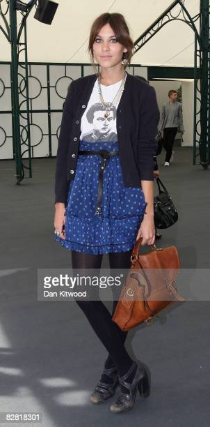 Alexa Chung attends the Luella Spring/Summer 2009 collection catwalk during London Fashion week on September 15 2008 in London England