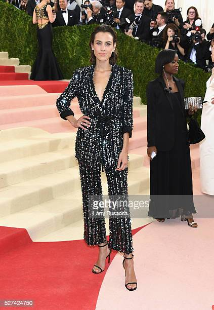 Alexa Chung attends the 'Manus x Machina Fashion In An Age Of Technology' Costume Institute Gala at Metropolitan Museum of Art on May 2 2016 in New...