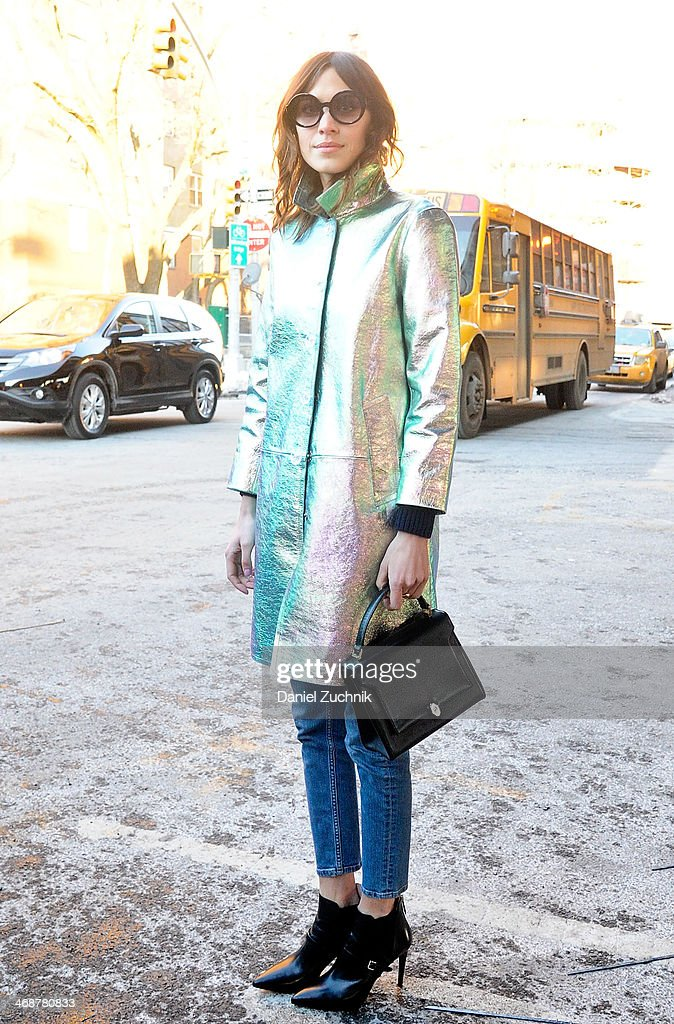 Alexa Chung attends the Marc by Marc Jacobs show on February 11, 2014 in New York City.