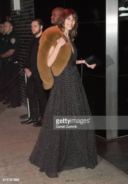 Alexa Chung attends the Marc Jacobs afterparty of the Rei Kawakubo/Comme des Garcons Art Of The InBetween Costume Institute Gala at the Boom Boom...