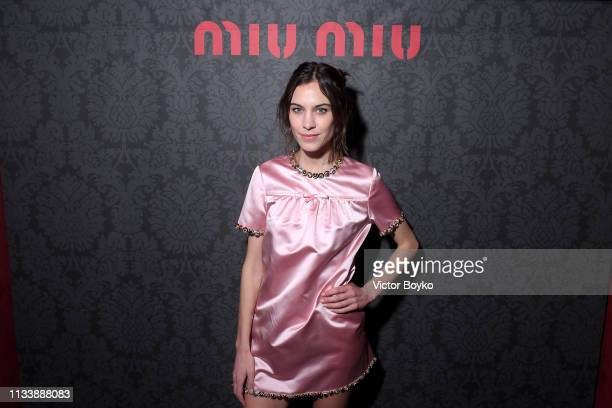 Alexa Chung attends the Miu Miu dinner and aftershow party at Raspoutine Club as part of the Paris Fashion Week Womenswear Fall/Winter 2019/2020 on...