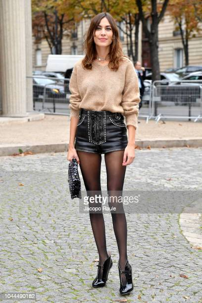 Alexa Chung attends the Miu Miu show as part of the Paris Fashion Week Womenswear Spring/Summer 2019 on October 2 2018 in Paris France