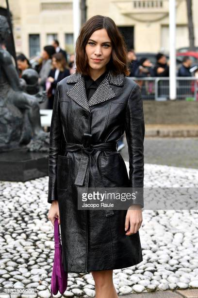 Alexa Chung attends the Miu Miu show as part of the Paris Fashion Week Womenswear Fall/Winter 2019/2020 on March 05 2019 in Paris France