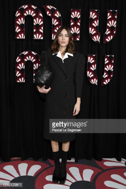 Alexa Chung attends the Miu Miu show as part of the Paris Fashion Week Womenswear Fall/Winter 2020/2021 on March 03 2020 in Paris France
