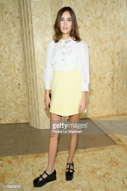 Alexa Chung attends the Miu Miu Womenswear Spring/Summer 2020 show as part of Paris Fashion Week on October 01, 2019 in Paris, France.