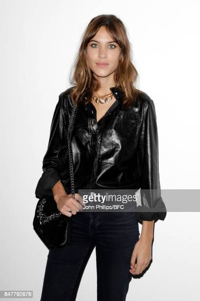 Alexa Chung attends the Molly Goddard show during London Fashion Week September 2017 on September 16 2017 in London England