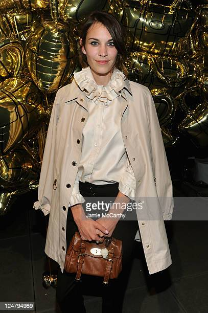 Alexa Chung attends the Mulberry 40th Anniversary celebration on the Rooftop at Skylight West on September 12, 2011 in New York City.