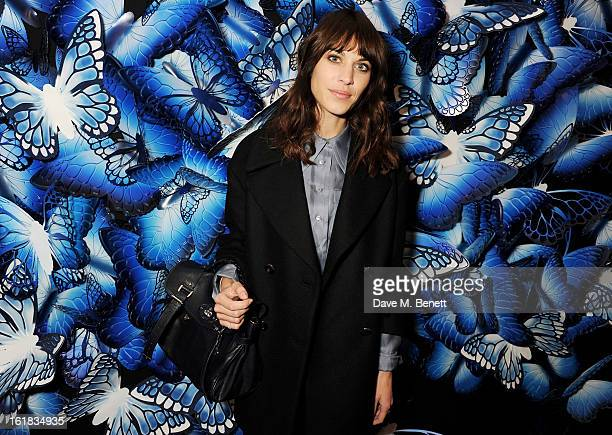 Alexa Chung attends the Mulberry Autumn Winter 2013 show during London Fashion Week at Claridge's Hotel on February 17, 2013 in London, England.