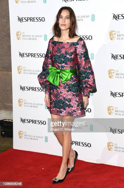 Alexa Chung attends the Nespresso British Academy Film Awards nominees party at Kensington Palace on February 9 2019 in London England