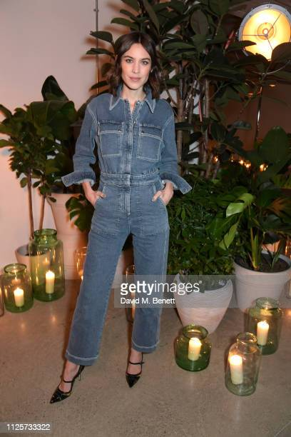 Alexa Chung attends the NETAPORTER Fashion Family Dinner at Wild By Tart on February 18 2019 in London England