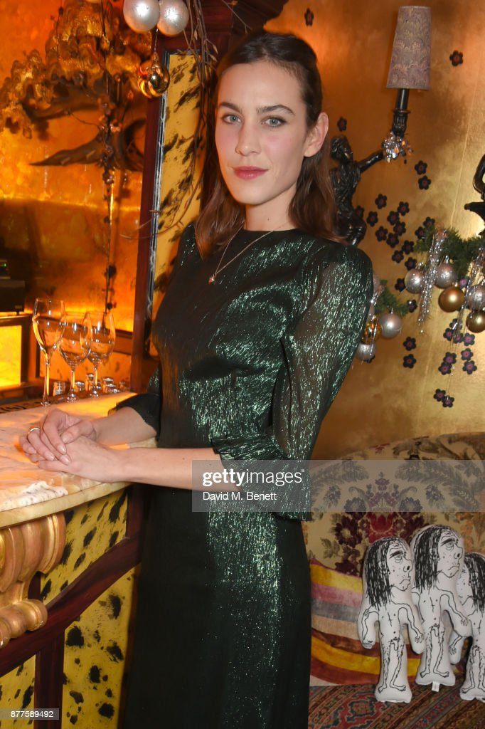 Alexa Chung attends the Nick Cave & The Bad Seeds x The Vampires Wife x Matchesfashion.com party at Loulou's on November 22, 2017 in London, England.