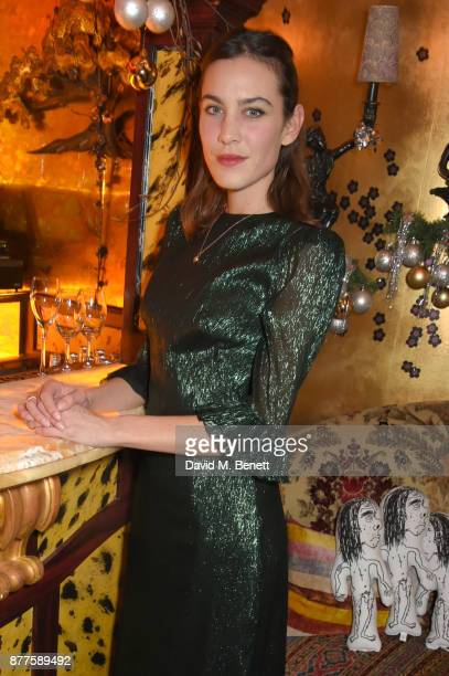 Alexa Chung attends the Nick Cave The Bad Seeds x The Vampires Wife x Matchesfashioncom party at Loulou's on November 22 2017 in London England