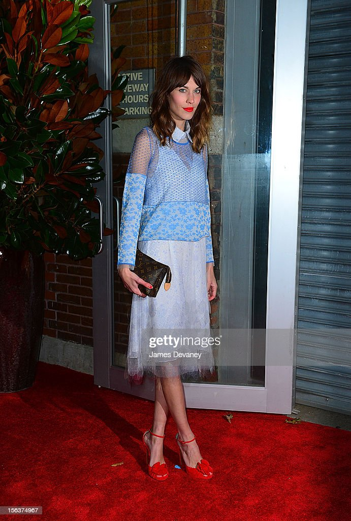 Alexa Chung attends The Ninth Annual CFDA/Vogue Fashion Fund Awards at 548 West 22nd Street on November 13, 2012 in New York City.