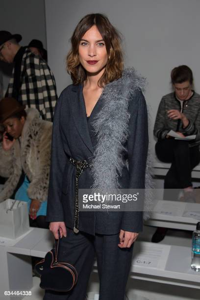 Alexa Chung attends the Noon by Noor show during February 2017 New York Fashion Week The Shows at Gallery 3 Skylight Clarkson Sq on February 9 2017...