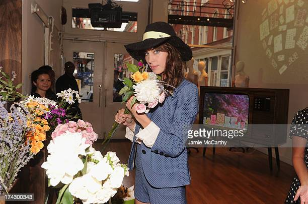 Alexa Chung attends the Orla Kiely for Target Preview Party on July 23 2013 in New York City