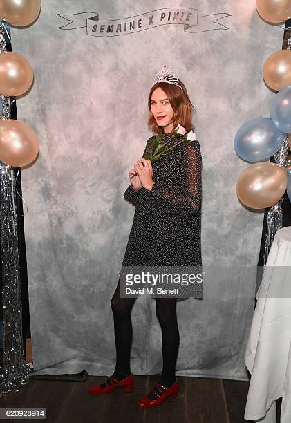 Alexa Chung attends the Pixie Geldof album launch hosted by Semaine at The London EDITION on November 3 2016 in London England