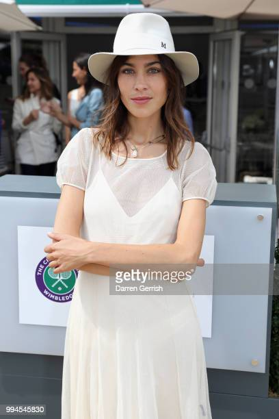 Alexa Chung attends the Polo Ralph Lauren and British Vogue Wimbledon day on July 9 2018 in London England