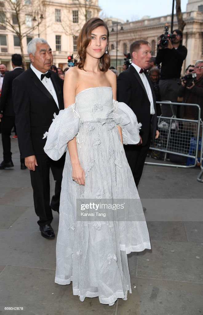 Alexa Chung attends the Portrait Gala 2017 at the National Portrait Gallery on March 28, 2017 in London, England.