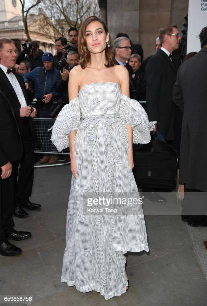 Alexa Chung attends the Portrait Gala 2017 at the National Portrait Gallery on March 28 2017 in London England