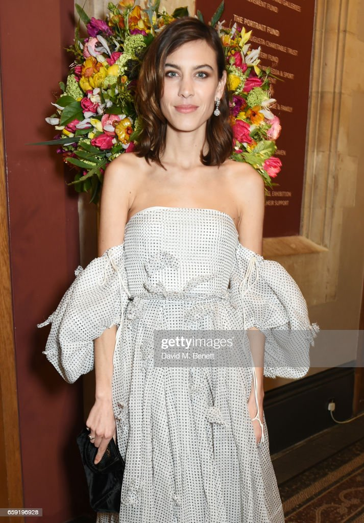 Alexa Chung attends the Portrait Gala 2017 sponsored by William & Son at the National Portrait Gallery on March 28, 2017 in London, England.