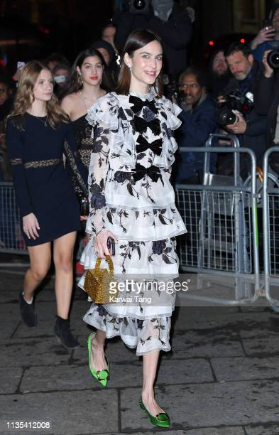 Alexa Chung attends the Portrait Gala 2019 at National Portrait Gallery on March 12 2019 in London England