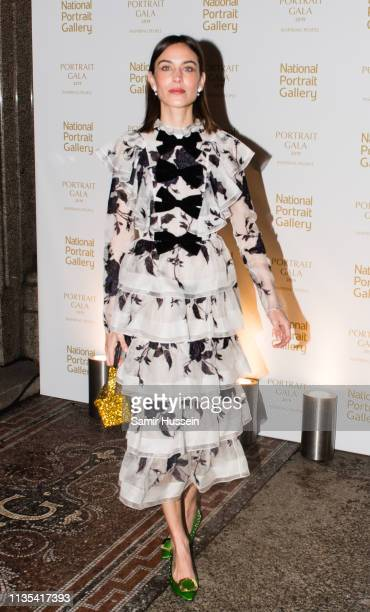 Alexa Chung attends the Portrait Gala 2019 at the National Portrait Gallery on March 12 2019 in London England