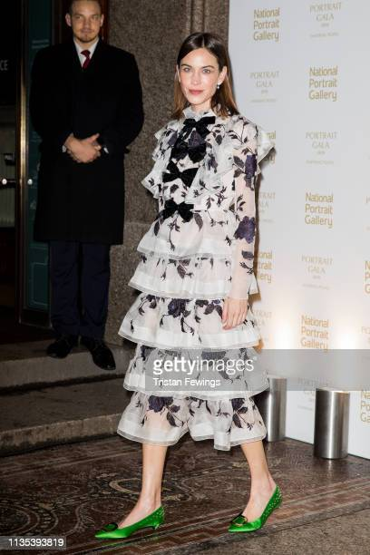 Alexa Chung attends the Portrait Gala at National Portrait Gallery on March 12, 2019 in London, England.